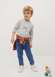 Kid United, Coton Bio, Toddler Boys, Revers, Long Sleeve Shirts, Organic Cotton, Fibres, T Shirt, Ainsi