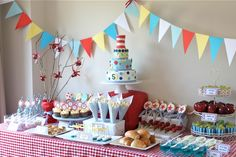Dr. Seuss birthday spread from Alison Lawson Cakes could also be an awesome wedding dessert buffet!