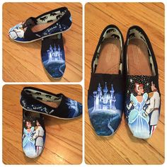 Magical Hand Painted Cinderella Toms by ButterMakesMeHappy on Etsy