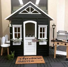Precious Tips for Outdoor Gardens - Modern Kids Cubby Houses, Play Houses, Backyard Playground, Backyard For Kids, Playhouse Decor, Boys Playhouse, Backyard Renovations, Wendy House, Kids Play Area