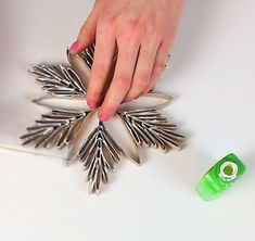 Christmas Ornaments form paper toilet rolls / DIY Snowflake - 2