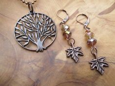 FALL  Autumn Copper Tree of Life Pendant by DestinyAccessory, $24.00