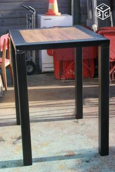 Table mange debout design meuble industriel