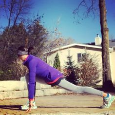887f848bb34f6 Stretching through the hips on this post-run flow - keep it fluid then hold