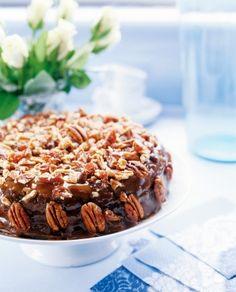 Kinuskinen pähkinä-taatelikakku | Joulu | Pirkka #food #christmas