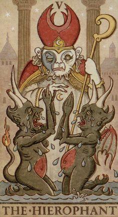 5 - V - Papa - Hierophant - Pape - gerofante o ierofante o druido o libro - tarocchi - luna paradoxical tarot Major Arcana Cards, Tarot Major Arcana, What Are Tarot Cards, The Hierophant, Tarot Learning, Demonology, Oracle Cards, Tarot Decks, Deck Of Cards