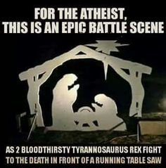 Nativity Scene from an Athiest's Perspective.