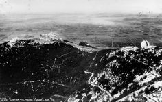 Echo Mountain in the 1890s from hiking trail (Courtesy of the Los Angeles Public Library