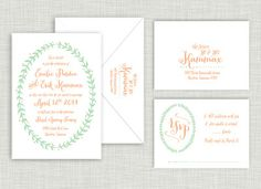 Laurel Wedding Suite Order @ www.saraheilwagen.com #rustic #weddinginvitation #wedding #invitation
