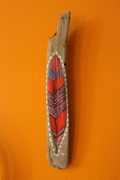 Driftwood art...and they even have the wall color right.