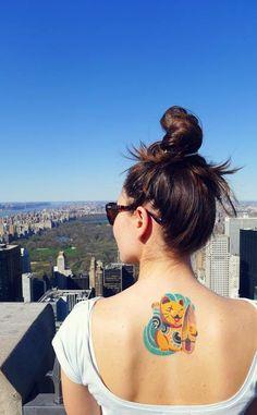 Colorful Minimal Tattoos by Sasha Unisex | Trend Bump