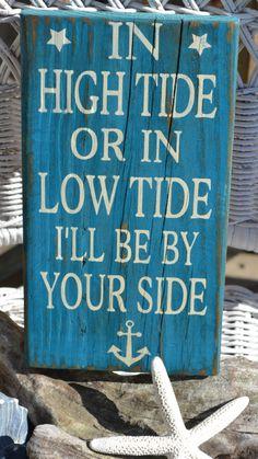 NEW Beach Decor, Nautical, Anchor, Coastal Art, Reclaimed Driftwood, Handpainted Sign, Distressed. $23.00, via Etsy.