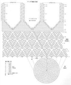 Tutorial Crochet added 2 new photos. Crochet Diagram, Crochet Chart, Crochet Stitches, Knit Crochet, Tutorial Crochet, Crotchet Bags, Knitted Bags, Knitting Patterns, Crochet Patterns