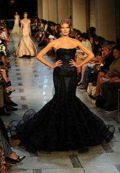 Black gown from Zac Posen Spring 2012