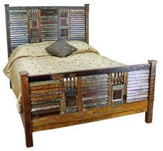 Rustic Bedroom Furniture   Mexicali Rustic Wood Bed Set Furniture « Mexican Furniture ...