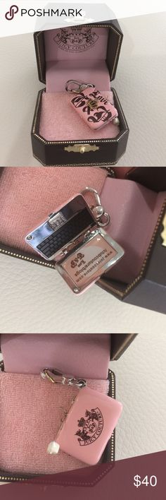Juicy Couture laptop charm In box like new condition juicy Couture laptop charm Juicy Couture Jewelry