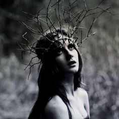 creepy headdress, but striking contrast