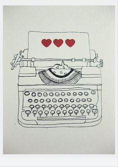 typewriter #illustration