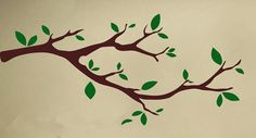 Whimsical Little Part Tree Branches Wall Decals Nuesery Tree Kids Bedroom Art Decor Wall Mural Morden Style Wall Decals D-313