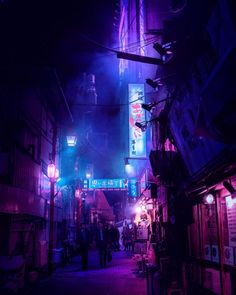 😍 Wonderful Poser of Tokyo Nights - A Midnight City Liam Wong, here showing a stunning framed poster print of the Neon Lights with the Streets of Tokyo, Japan. Via Liam Wong on Affilaite Cyberpunk City, Ville Cyberpunk, Cyberpunk Aesthetic, Arte Cyberpunk, Dark Purple Aesthetic, Neon Aesthetic, Night Aesthetic, Aesthetic Outfit, Japanese Aesthetic