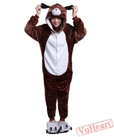 CafePress - Siberian Husky Sled Dog - Novelty Footed Pajamas b55819edd
