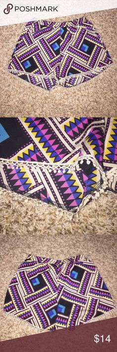 printed pom-pom shorts Printed pom-pom shorts. Fully lined. Size medium. Great condition. Shorts