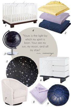 """Brilliant Nursery Design!! """"YOU ARE MY SUN, MY MOON, AND ALL MY STARS"""" from Chicago ReDesign"""