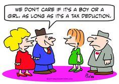 funny Tax Cartoons | Cartoon: boy girl tax deduction pregnant (medium) by rmay tagged boy ...