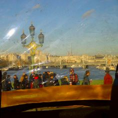 Looking out of the window on a Duck Tours vehicle from Westminster Bridge #London #DuckTours #LoveForLondon