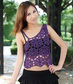 Crochet gold: Top purple lace! Free Crochet Pattern