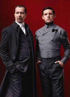 Gary Oldman and Jamie Bell for Prada