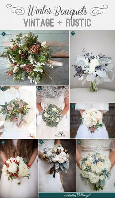 28 Ideas Wedding Winter Bouquet Texture For 2019 Vintage Wedding Flowers, Winter Wedding Flowers, Flower Bouquet Wedding, Rustic Wedding, Trendy Wedding, Vintage Weddings, Wedding Blue, Fall Wedding, October Wedding