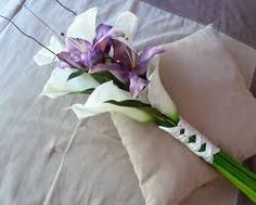 Image result for calla lily arm bouquets