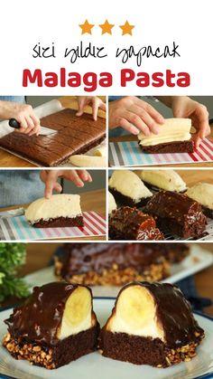 How to make Malaga Pie Recipe? How to make Malaga Pie Recipe? Malaga, Good Food, Yummy Food, Tasty, Delicious Recipes, Pasta Cake, Popular Recipes, Pie Recipes, Clean Eating
