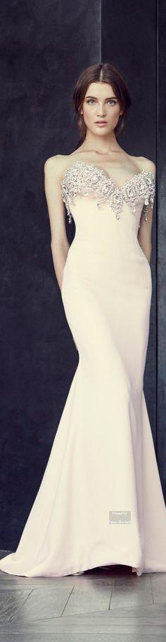 Blush wedding | blush wedding dress | blush bridal dress | Alexis Mabille Fall 2015 Couture