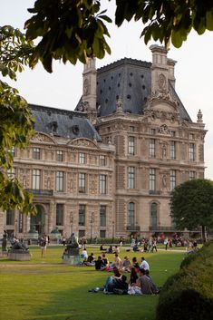 Picnic on the lawns of the Louvre.
