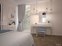 Urządzanie sypialni w domu jednorodzinnym Curtains, Studio, Home Decor, Homemade Home Decor, Studios, Interior Design, Home Interiors, Decoration Home, Window Scarf