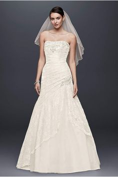 David's Bridal offers all wedding dress & gown styles including mermaid, a-line & ball gown wedding dresses at an affordable price. Book an appointment now!