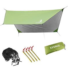 Lightweight Waterproof Tarps Rain Fly  YUEDGE 1013 Ft Portable Tent Tarp Rain Traps Shelter Sunshade with Rope and Stakes For Hiking Backpacking  Travel ** Be sure to check out this awesome product-affiliate link. #OutdoorAccessories