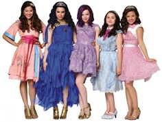 """Disney Descendants (L to R) Carlos, Evie, Mal and Jay """"Ben, the teenaged son of King Beast and Queen Belle, invites the exiled . The Descendants, Descendants Characters, Disney Channel Descendants, Disney Channel Stars, Descendants Pictures, Dove Cameron, Disney Villains, Disney Movies, Disney Channel Movies"""