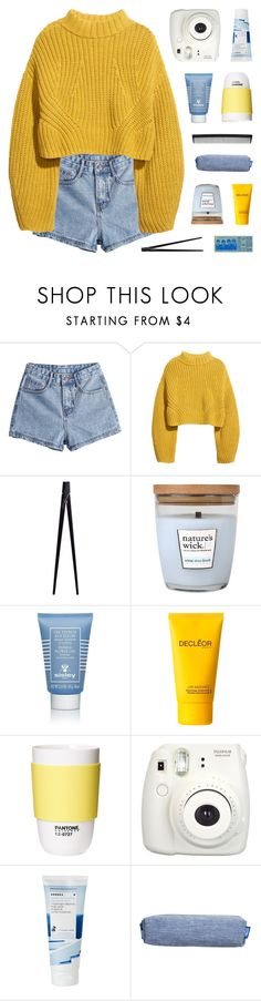 """""""where'd you get those ocean eyes?"""" by kristen-gregory-sexy-sports-babe ❤ liked on Polyvore featuring H&M, CB2, Sisley, Decléor, ROOM COPENHAGEN, Fujifilm, Korres and T3"""