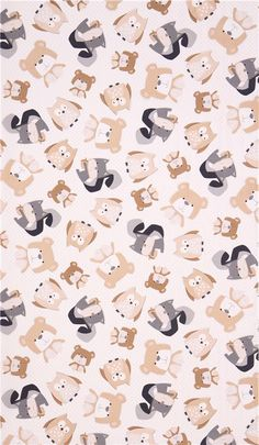 off-white Wee Woodland animal fabric by Timeless Treasures