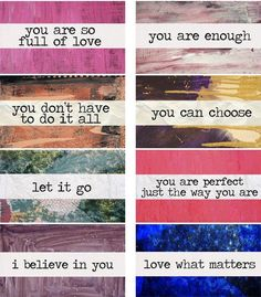 Affirmations words