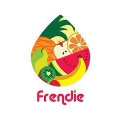 Nadja Raskovaloff on Here a smoothie company logo. Food Logo Design, Logo Food, Branding Design, Logo Branding, Food Company Logo, Fruit Company, Smoothie Company, Cafe Display, Juice Logo