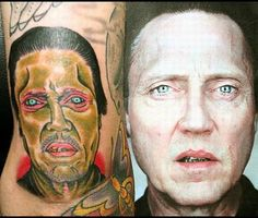 The girl who destroyed Christopher Walken's face. | 31 Tattoo Artists Who Should BeFired