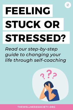 Feeling stuck, stressed or overwhelmed? Click to learn how self-coaching can help you make long-lasting positive changes today #personalgrowth #personaldevelopment Mental Health Therapy, Mental Health Treatment, Mental Health And Wellbeing, Self Acceptance, Feeling Stuck, Anxiety Relief, Health Advice, Stress Management, Helping Others