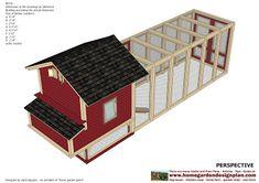 home garden plans: L102 - Chicken Coop Plans Construction - Chicken Coop Design - How To Build A Chicken Coop Building A Chicken Run, Walk In Chicken Coop, Diy Chicken Coop Plans, Chicken Coop Designs, Chicken Runs, Chicken Coops, Insulation Materials, Chicken Breeds, Garden Planning