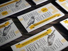 Letterpress Business Cards - 2 color letterpress business cards printed on 118lb cotton paper *raven illustration by: Alexandra Huckabayvia via Flickr.