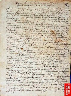 Page 1 of Anne Boleyn's Letter to King Henry VIII from the Tower of London, 6 May Royal Family Trees, King Henry Viii, Tudor History, Anne Boleyn, Gifts For Photographers, Tower Of London, Creative Gifts, Lettering, Inspiration