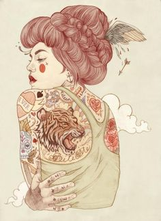 Tattoo illustrations by Liz Clements. Liz is Freelance artist/illustrator based in London, UK.